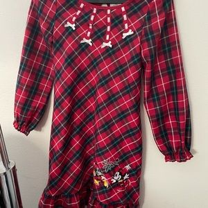 Disney Store Mickey & Minnie Mouse Christmas gown